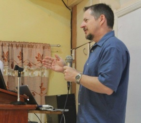 Paul Hammons speaking in the Philippines