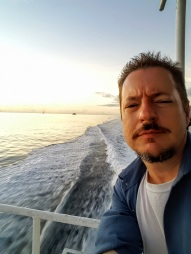 Paul Hammons on the Batangas ferry in the Philippines