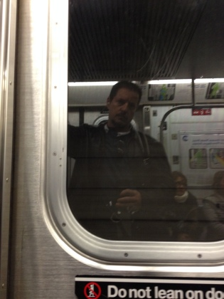 Paul Hammons reflection on a subway